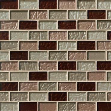 Ayres Brick Blend Mosaics 1x2 on 12x12 Sheet
