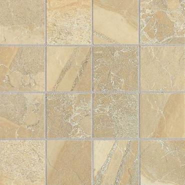 "Ayers Rock - Golden Ground Mosaic 3"" x 3"" On 13-1/8"" x 13-1/8"" Sheet"