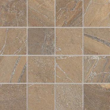 "Ayers Rock - Bronzed Beacon Mosaic 3"" x 3"" On 13-1/8"" x 13-1/8"" Sheet"