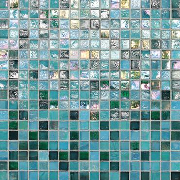 """City Lights - Honolulu Mesh Mounted Mosaic 1/2"""" x 1/2"""" On 11-1/2"""" x 11-1/2"""" Sheet"""