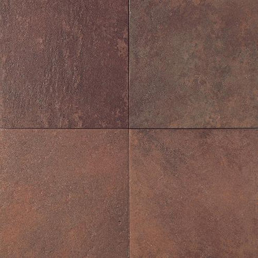 Continental Slate - Indian Red 18x18