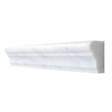 """Bianco Carrara Polished Ogee 12"""""""