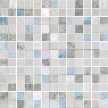 Glass Onix Essence Carrara Macauba 1x1 Mosaic Blend