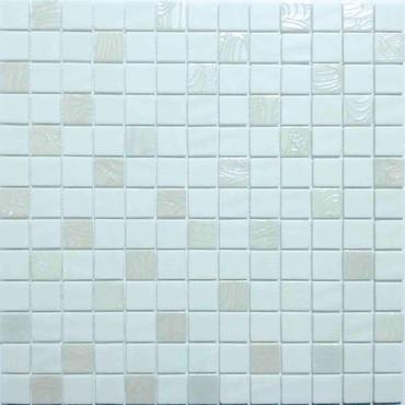Glass Onix Nature Upsala White 1x1 Mosaic Blend