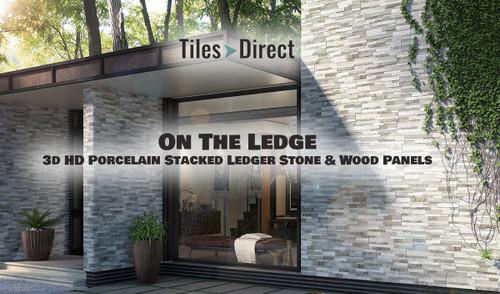 NEW 3D–HD Porcelain Ledger Panels & Our 15% Flash SALE Tile Discount On Selected Brands!