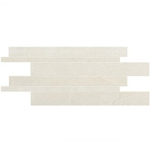 Stone Project White 12x24 Cross Cut Listelli Sfalsati