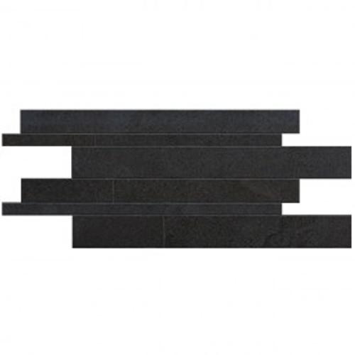 Stone Project Black 12x24 Cross Cut Listelli Sfalsati