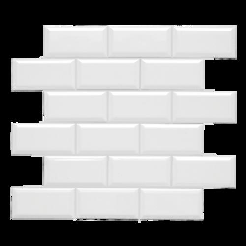 Neri White 2x4 Beveled Mosaic