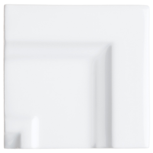 Neri White Crown Molding Frame Corner for 3x6
