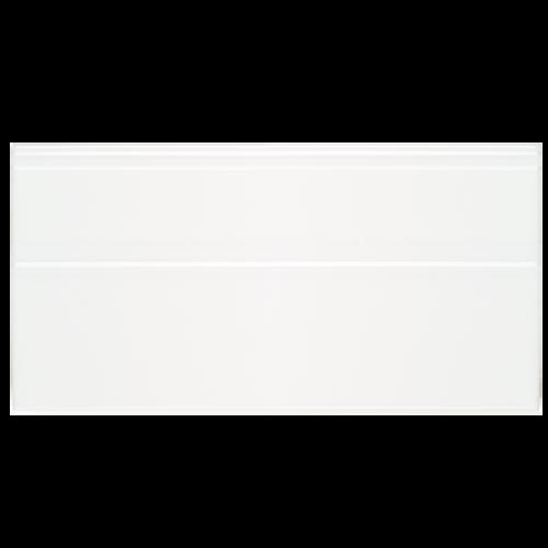Neri White 6x12 Base Board with Glazed Top Edge