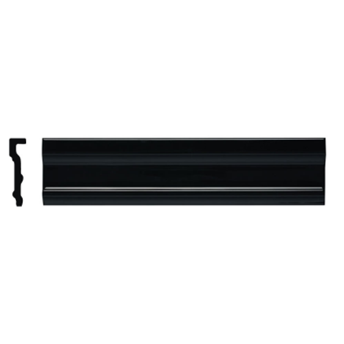 Neri Black Crown Molding 2.8 x 12