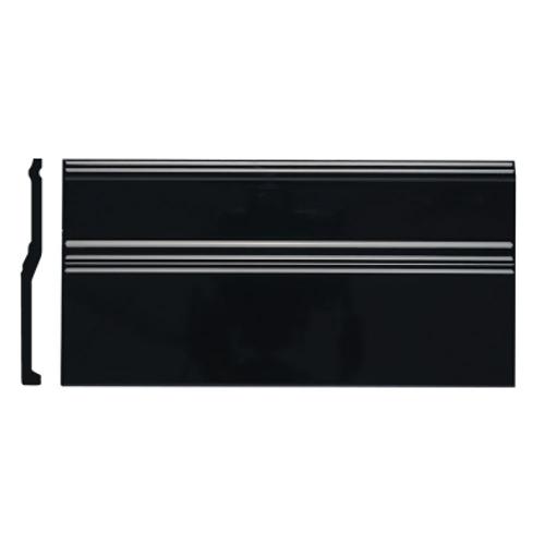 Neri Black Base Board 6x12 Top Glazed Edge
