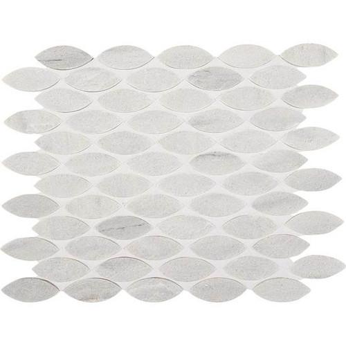 Ascend Candid Heather Honed 1 X 2-3/8 Mosaics Leaf