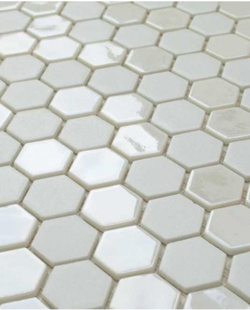 Glass Onix Hexagon Pearl 13x13 Mosaic