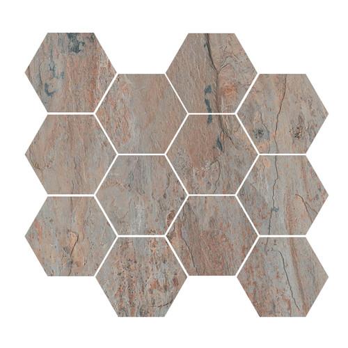 Renova Golden Grey 4x4 Hex Mosaic