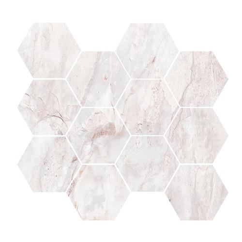 Renova White 4x4 Hex Mosaic
