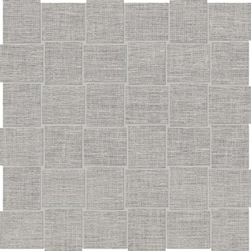 Belgian Linen Fog Basketweave HD Mosaics 2x2