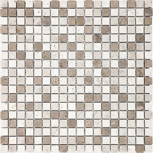 """Khaki Blend Mosaics 5/8"""" x 5/8"""""""