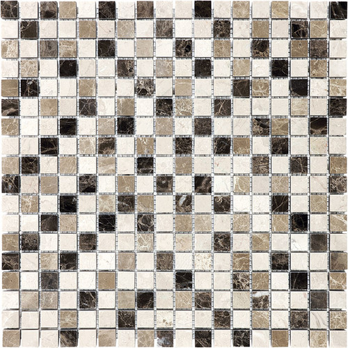 """Emperador Blend Mosaics 5/8"""" x 5/8"""""""
