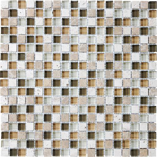 "Bamboo Glass Stone Blend Mosaics 5/8"" x 5/8"""