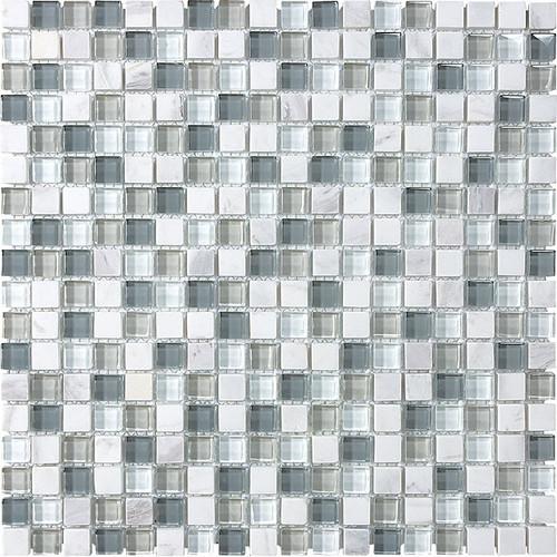 "Iceland Glass Stone Blend Mosaics 5/8"" x 5/8"""