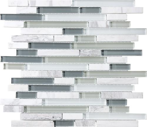 Iceland Glass Stone Linear Blend Mosaics