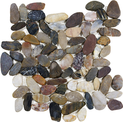 Zen Bora Wilderness Flat Polished Pebble Mosaics 12x12