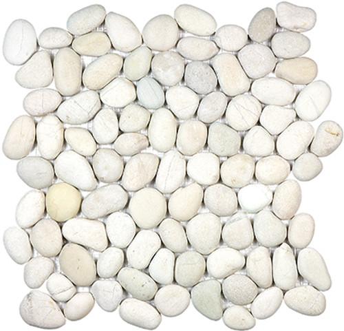 Serenity Ivory Natural Pebble Mosaics 12x12