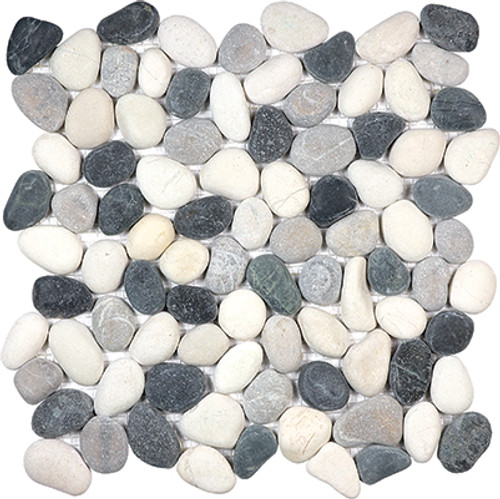 Tranquil Cool Blend Natural Pebble Mosaics 12x12