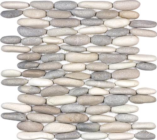 Harmony Warm Blend Stacked Pebble Mosaics 12x12