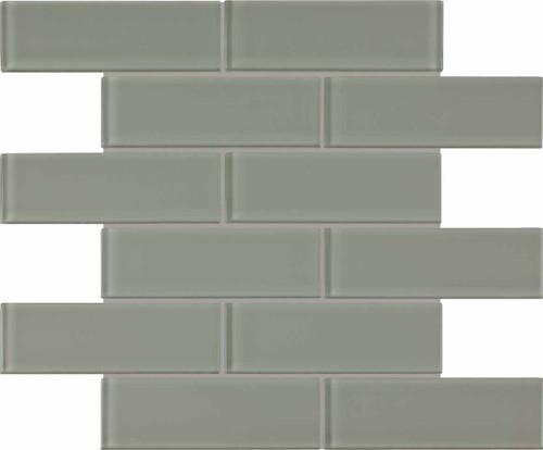 Element Smoke Glass Brick Mosaics 2x6 (35-039)