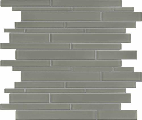 Element Smoke Random Strip Glass Mosaics (35-059)
