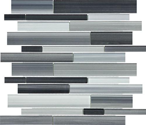 Fusion Carbon Random Strip Glass Mosaics