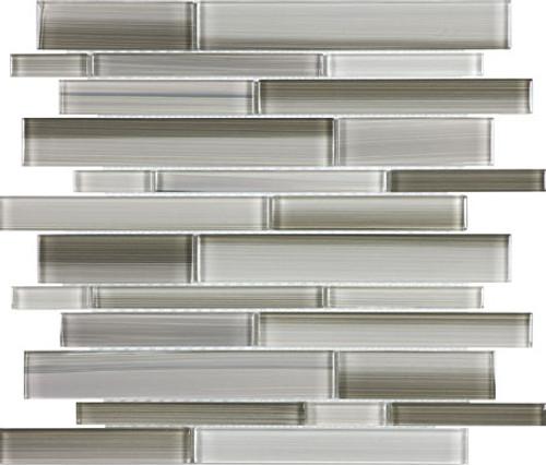 Fusion Clay Random Strip Glass Mosaics