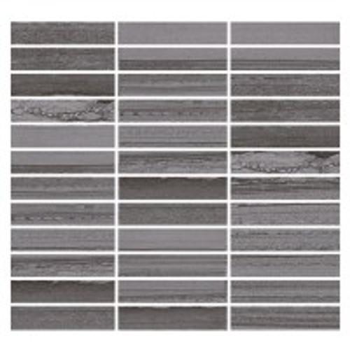 Lakestone Grigio 1x4 Mosaic on 12x12 Sheet