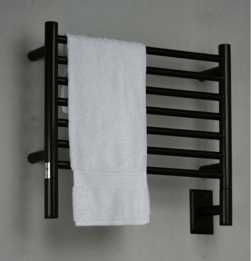 """Jeeves Collection - Model H Straight - Oil Rubbed Bronze - Heated Towel Rack 20.5"""" x 18"""""""