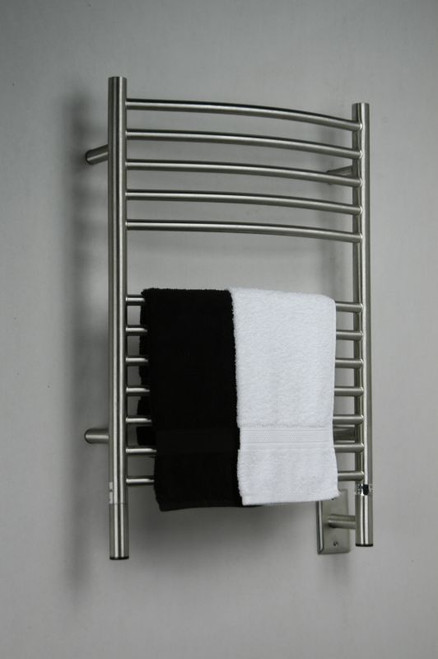 """Jeeves Collection - Model E Curved - Brushed - Heated Towel Rack 20.5"""" x 31"""""""