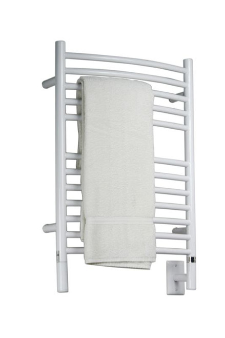 """Jeeves Collection - Model E Curved - White - Heated Towel Rack 20.5"""" x 31"""""""