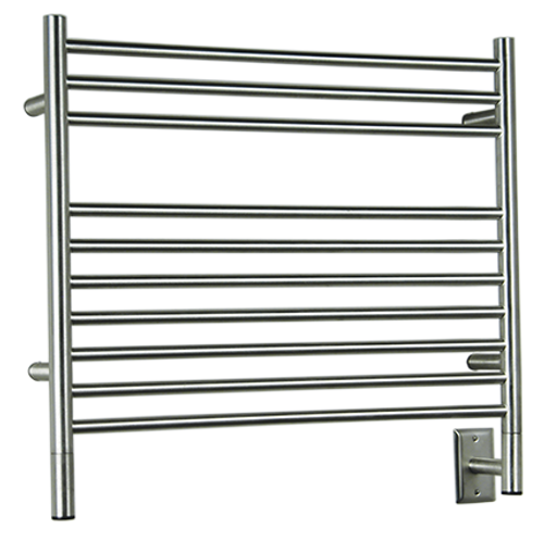 """Jeeves Collection - Model K Straight - Polished - Heated Towel Rack 29.5"""" x 27"""""""