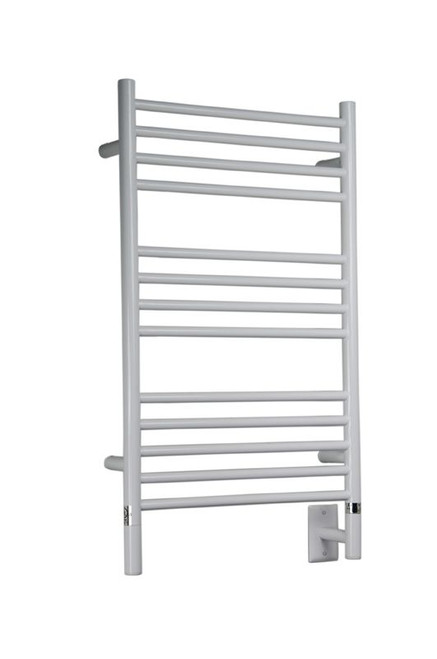 """Jeeves Collection - Model C Straight - White - Heated Towel Rack 20.5"""" x 36"""""""