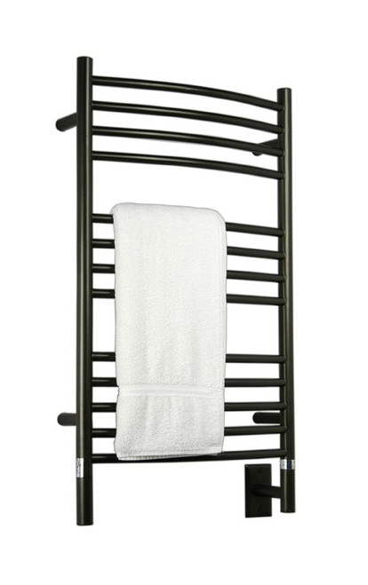 """Jeeves Collection - Model C Curved - Oil Rubbed Bronze - Heated Towel Rack 20.5"""" x 36"""""""