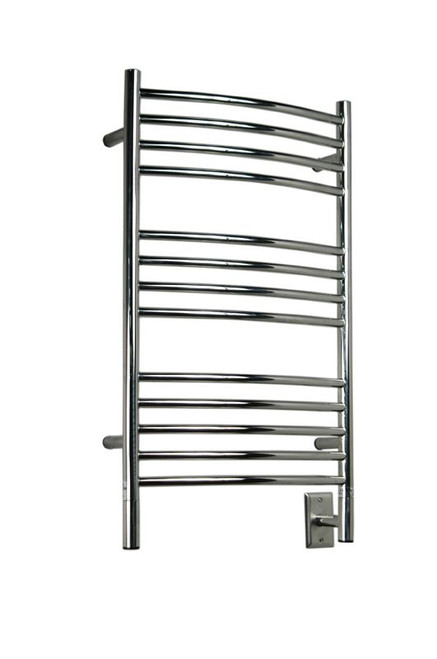 """Jeeves Collection - Model C Curved - Polished - Heated Towel Rack 20.5"""" x 36"""""""