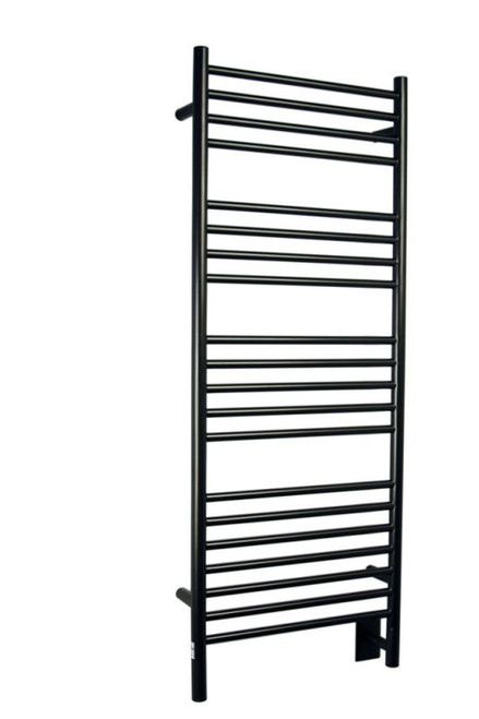 """Jeeves Collection - Model D Straight - Oil Rubbed Bronze - Heated Towel Rack 20.5"""" x 53"""""""
