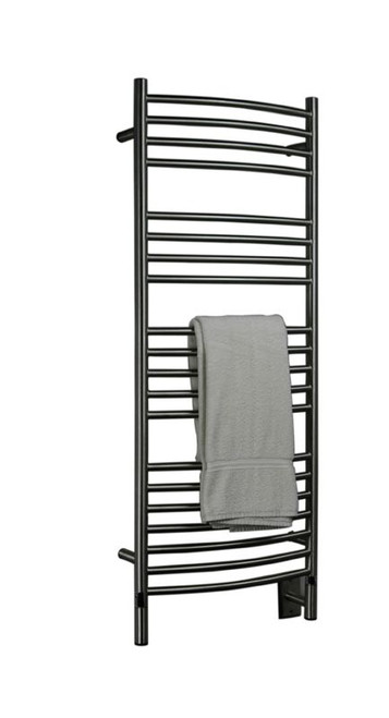 Jeeves Collection Model D Curved Brushed Heated Towel Rack 20 5 X 53