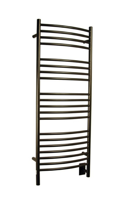 """Jeeves Collection - Model D Curved - Oil Rubbed Bronze - Heated Towel Rack 20.5"""" x 53"""""""