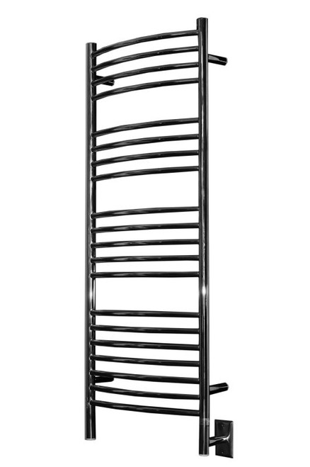 """Jeeves Collection - Model D Curved - Polished - Heated Towel Rack 20.5"""" x 53"""""""