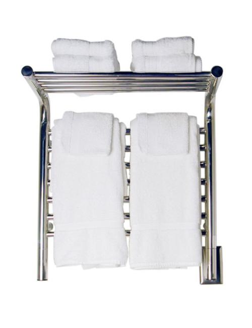 "Jeeves Collection - Model M Shelf - Polished - Heated Towel Rack 20.5"" x 22"""