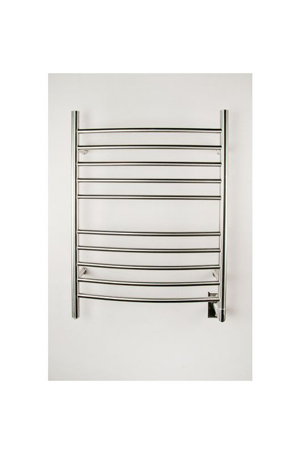 """Radiant Collection - Curved Hardwired Brushed - Heated Towel Rack 24"""" x 32"""""""