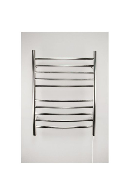 """Radiant Collection - Curved Plug-In Polished - Heated Towel Rack 24"""" x 32"""""""