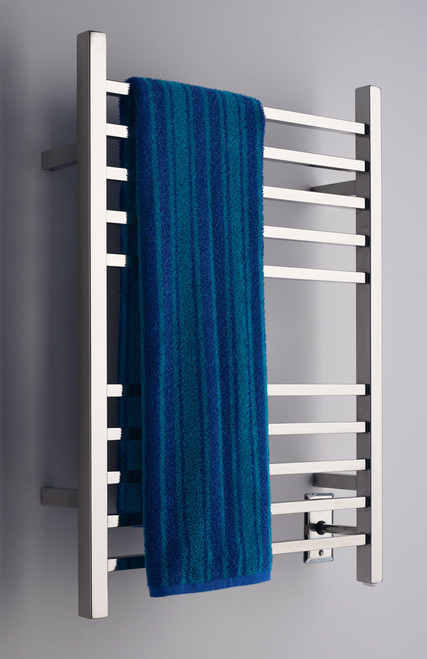 """Radiant Collection - Hardwired Square Polished - Heated Towel Rack 24"""" x 32"""""""